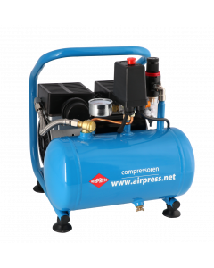 Stille Olievrije Compressor L 6-95 8 bar 0.6 pk 76 l/min 6 l