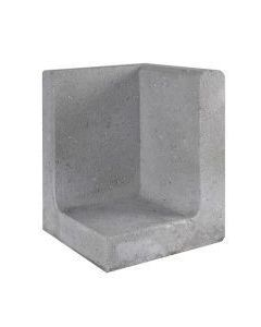L-hoekelement Grijs 40x40x40 cm